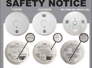 the recall is for kidde residential smoke alarms with model number i12010s dec 18 and may 13 and combination smokeco